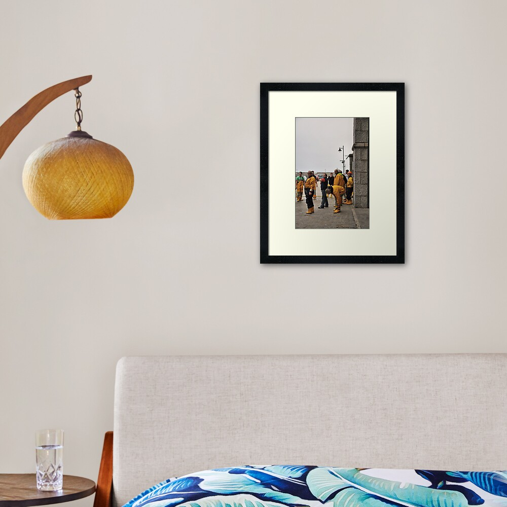 Lifeboat Crew Framed Art Print