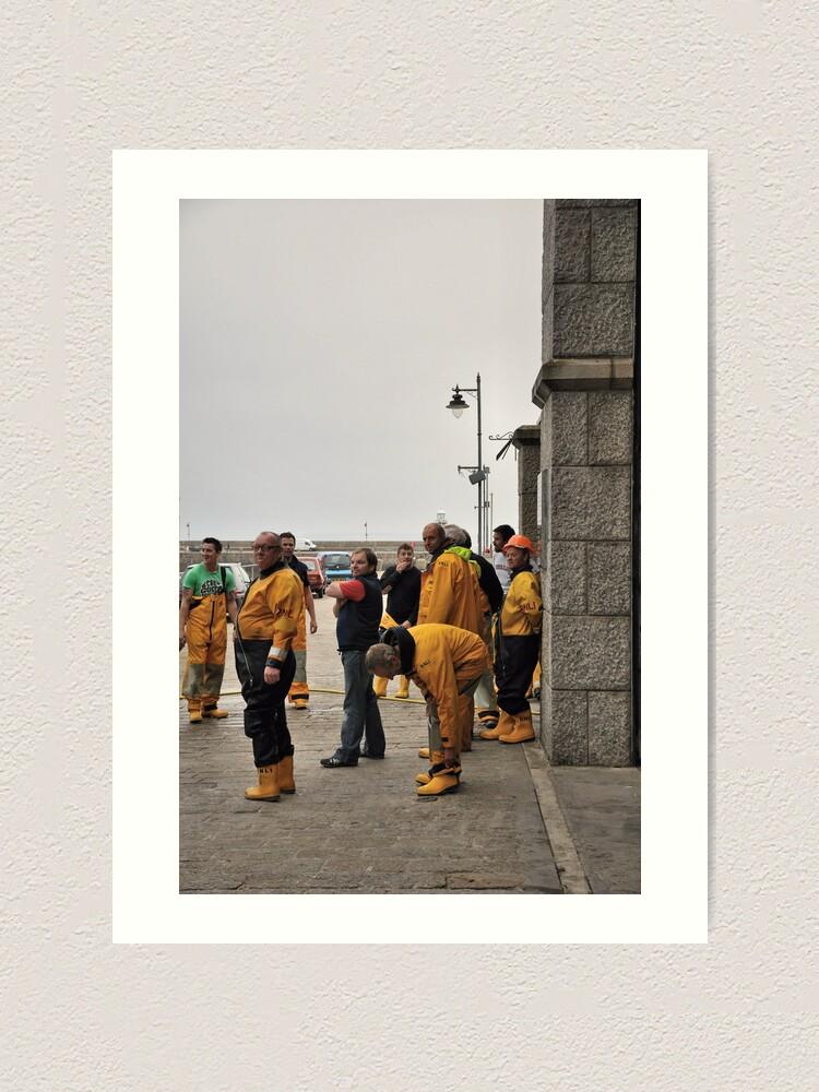 Alternate view of Lifeboat Crew Art Print
