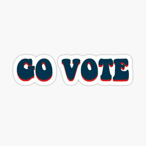 go vote Sticker