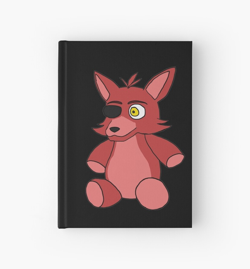 Fnaf Foxy Plush Hardcover Journals By Panthergirl0352 Redbubble
