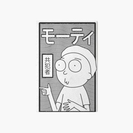 Rick et Morty   Morty japonais rétro Impression rigide