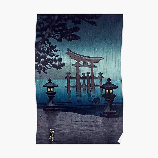 Miyajima in Rain by Tsuchiya Koitsu Poster