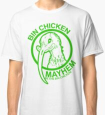 Bin Chicken Mayhem Logo Green Classic T-Shirt