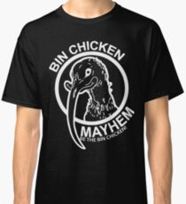 Bin Chicken Mayhem Logo White Classic T-Shirt