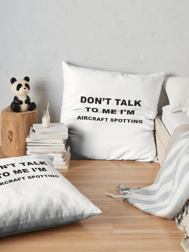 Alternative Ansicht von Aircraft Spotting Gift Bodenkissen