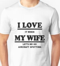 Aircraft Spotting Gift Slim Fit T-Shirt
