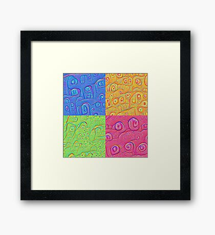 Deep Dreaming of a Color World 3K Framed Print
