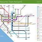 Melbourne Tram Network Map by Philip Mallis