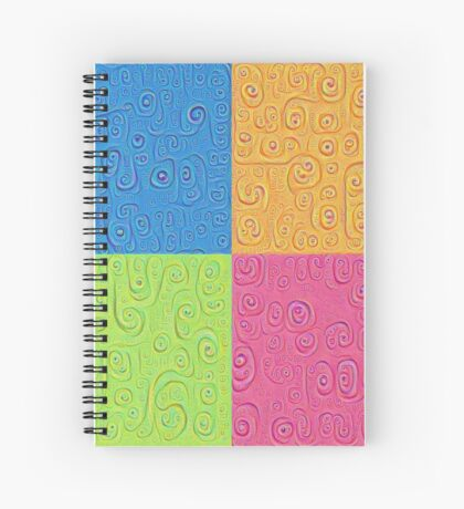 Deep Dreaming of a Color World 4K Saturation Spiral Notebook