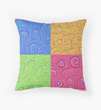 Deep Dreaming of a Color World 3K Throw Pillow
