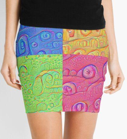 Deep Dreaming of a Color World 3K Mini Skirt
