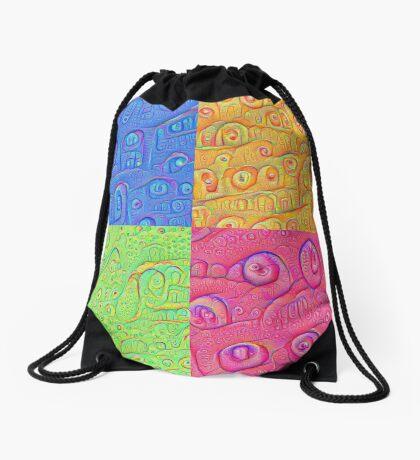 Deep Dreaming of a Color World 3K Drawstring Bag