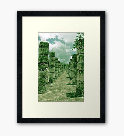 Mil Columnas Framed Print