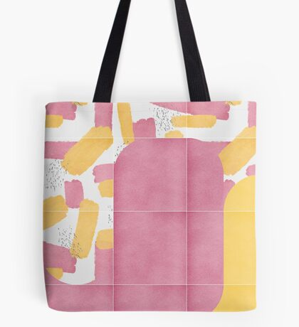 Bold Painted Tiles 02 #redbubble #midmod Tote Bag