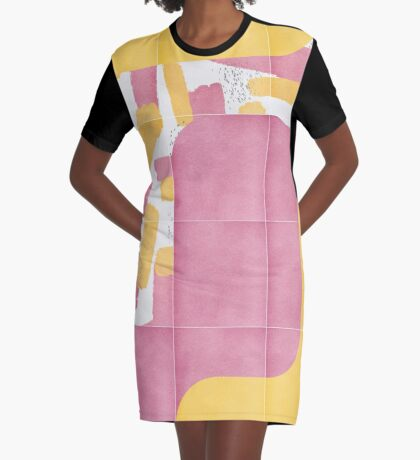 Bold Painted Tiles 02 #redbubble #midmod Graphic T-Shirt Dress