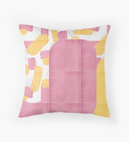 Bold Painted Tiles 02 #redbubble #midmod Floor Pillow