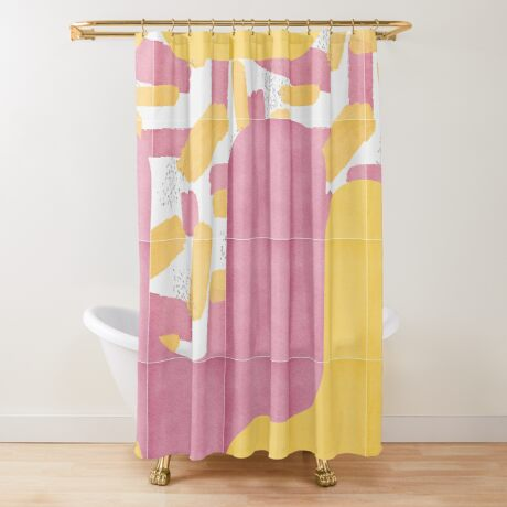 Bold Painted Tiles 02 #redbubble #midmod Shower Curtain