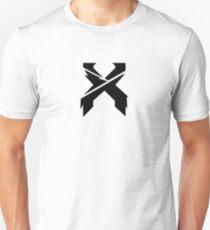Camiseta ajustada Etiquetas engomadas y camisas cortadas en escisión del logotipo