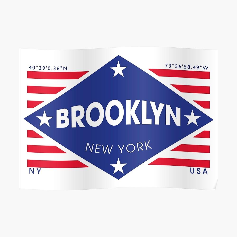 Brooklyn, New York - Diamond Flag Póster