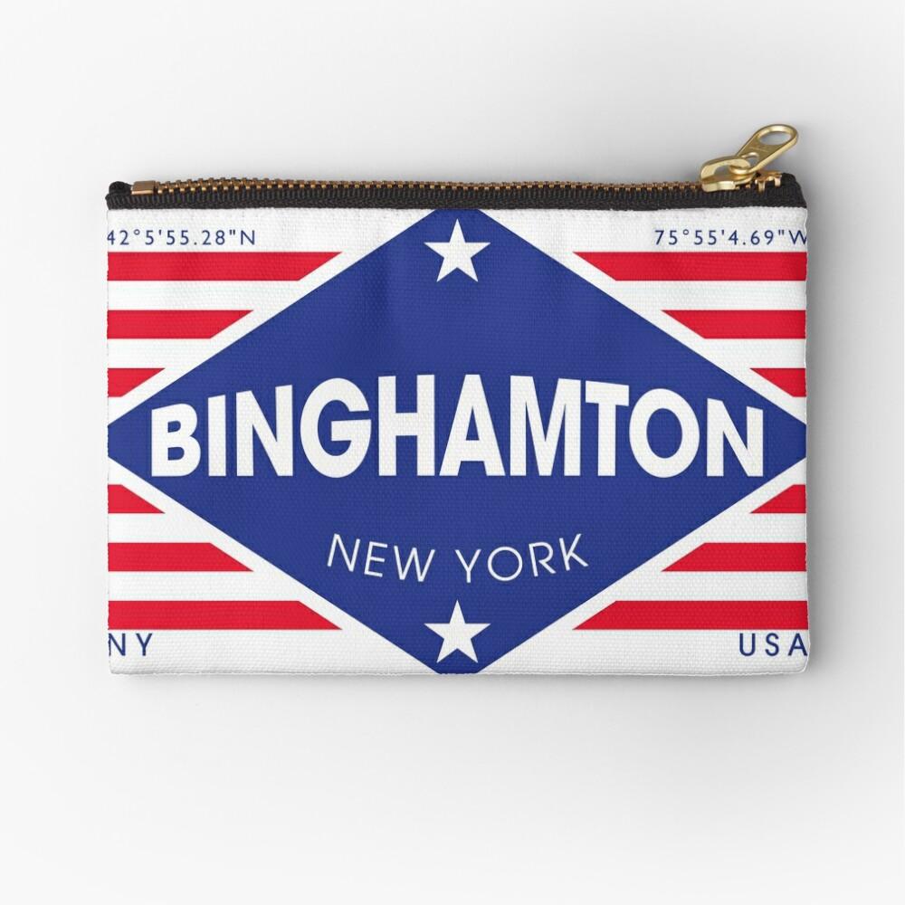 Binghamton, New York - Diamond Flag Bolsos de mano
