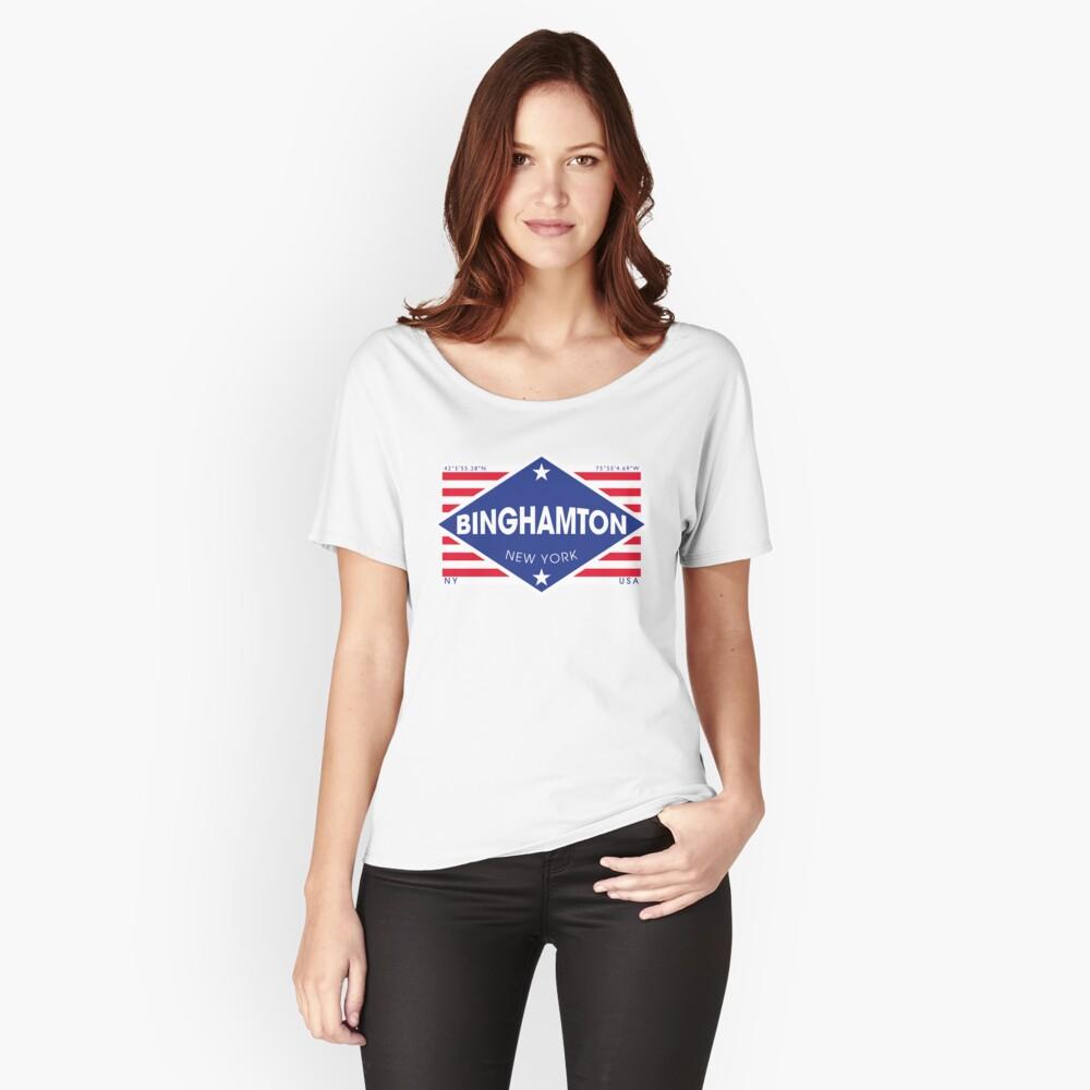 Binghamton, New York - Diamond Flag Camiseta ancha