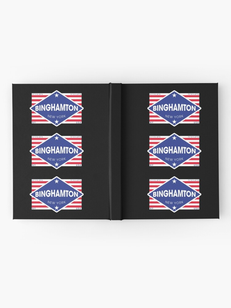 Vista alternativa de Cuaderno de tapa dura Binghamton, New York - Diamond Flag