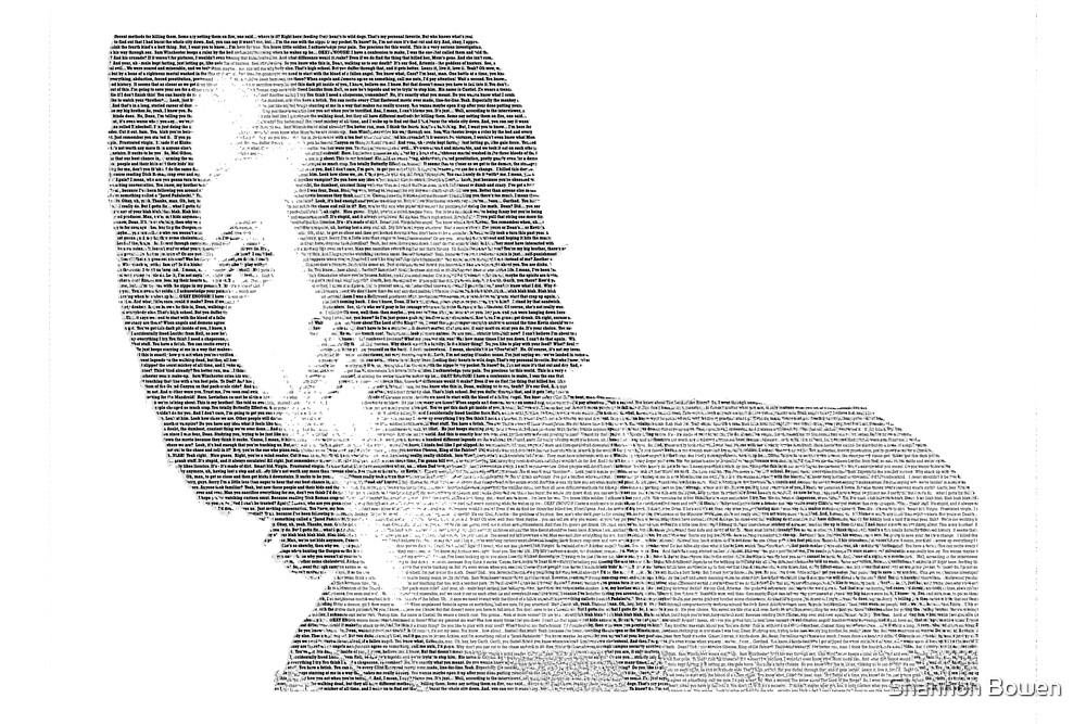 Jared Padalecki Text Portrait by Shannon Bowen