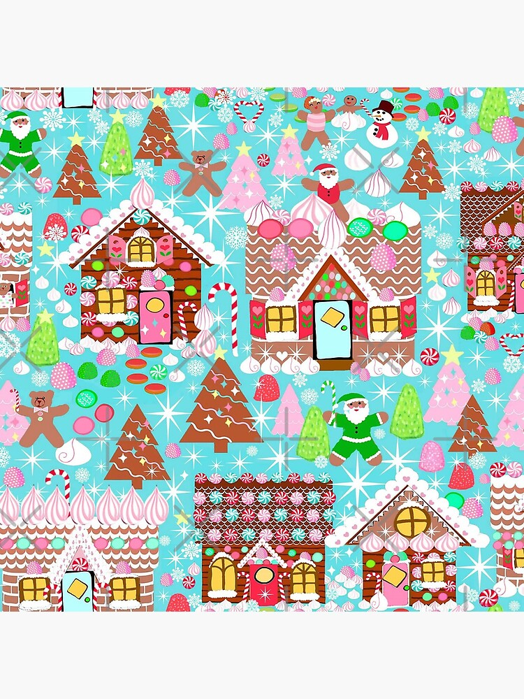 Christmas Gingerbread House, Holiday Village by MagentaRose