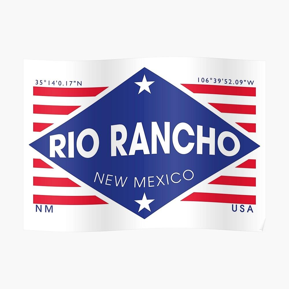 Rio Rancho, New Mexico - Diamond Flag Póster