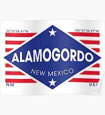 Póster Alamogordo, New Mexico - Diamond Flag