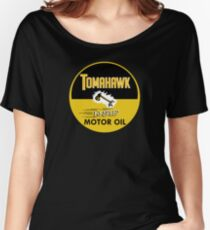 Tomahawk Motor Oil Shirt Women's Relaxed Fit T-Shirt