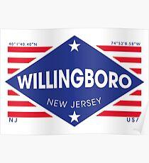 Póster Willingboro, New Jersey - Diamond Flag