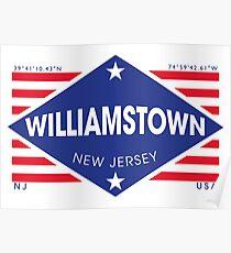 Póster Williamstown, New Jersey - Diamond Flag