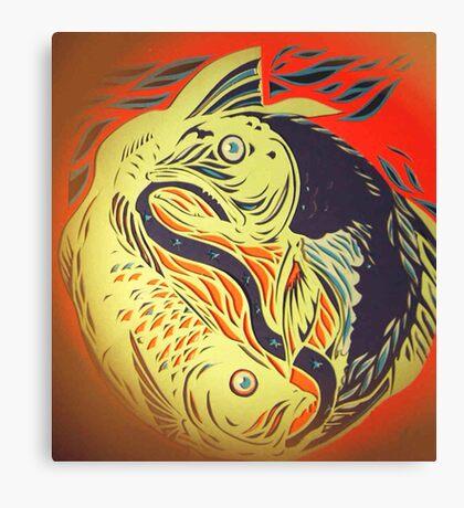 Pisces - unravelled Canvas Print