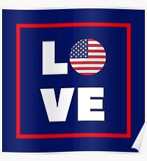 Póster Versión de la bandera de amor estadounidense