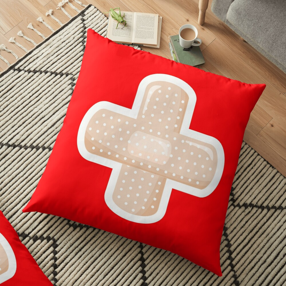 First Aid Plaster Floor Pillow