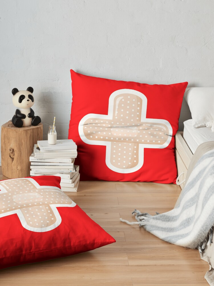 Alternate view of First Aid Plaster Floor Pillow