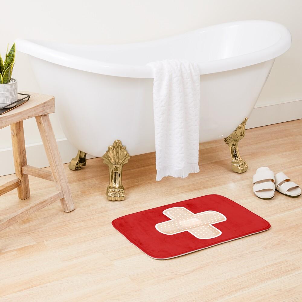 First Aid Plaster Bath Mat