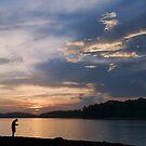 Sunset Fisherman  by Jean-Pierre Ducondi