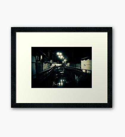 Night over a klong Framed Print