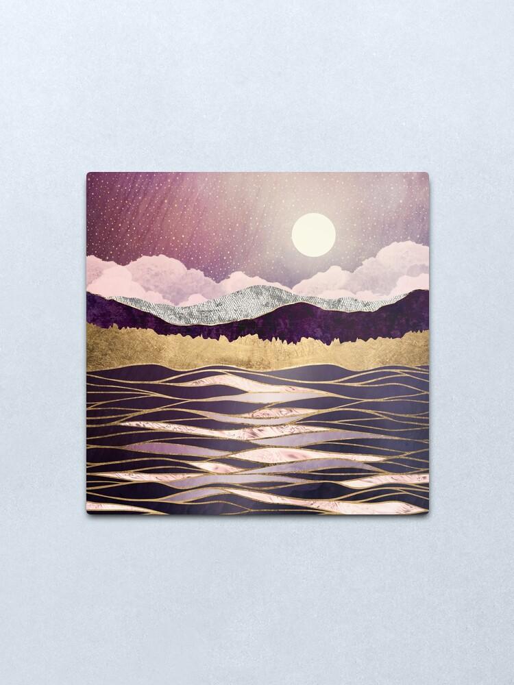 Alternate view of Lunar Waves Metal Print