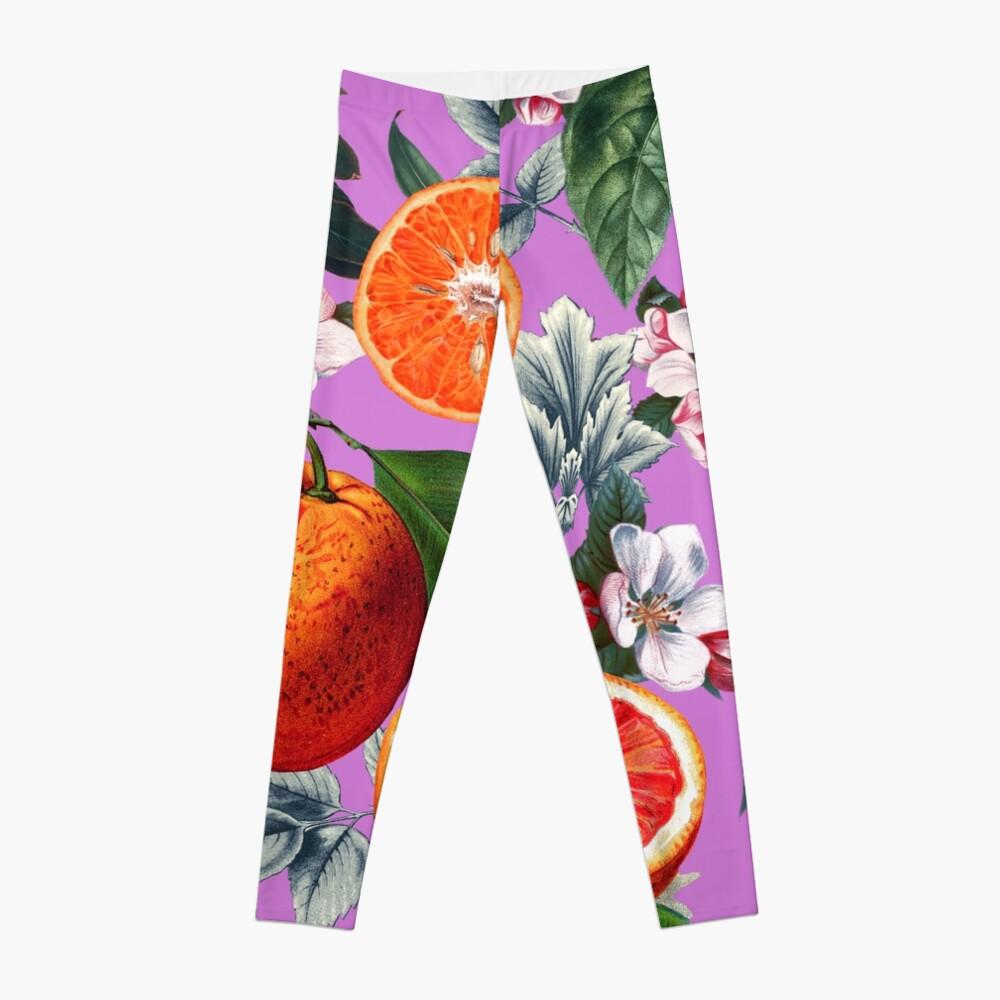 Weinlese-Frucht-Muster X Leggings