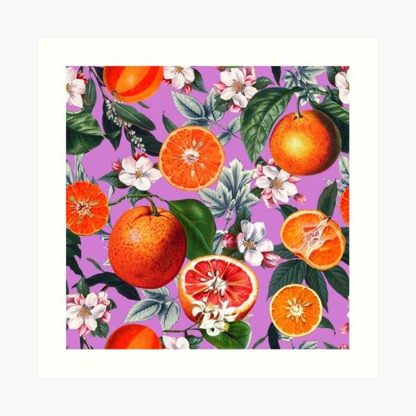Vintage Fruit Pattern X Art Print