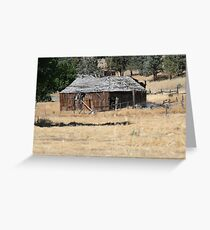 Abandonded Wood Building Greeting Card