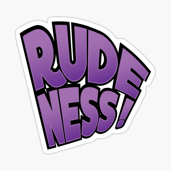 Rudeness Logo Sticker