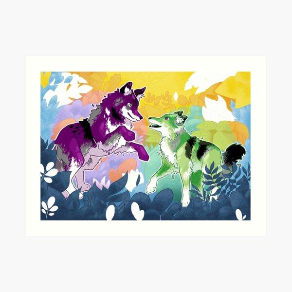 Aro/Ace Wolf Dance Art Print