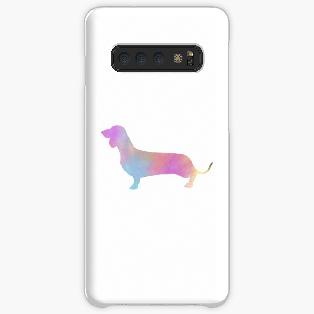 Watercolor Dachshund Case & Skin for Samsung Galaxy