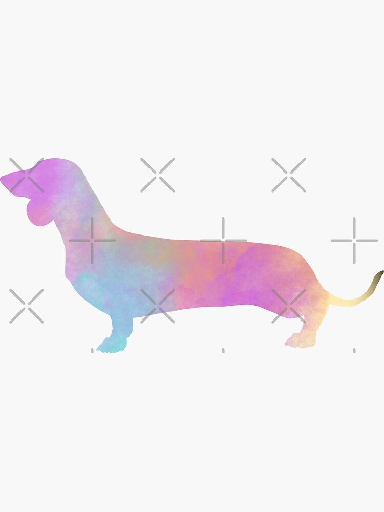 Watercolor Dachshund by tribbledesign