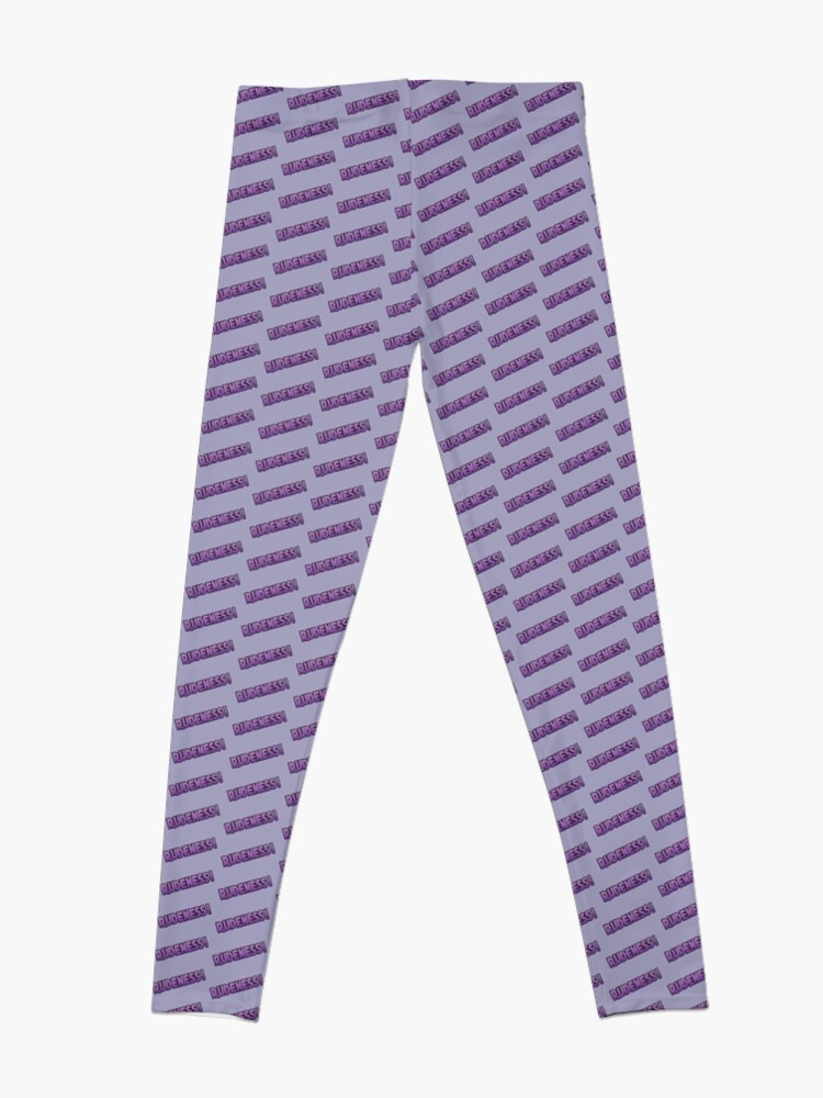 Alternate view of Rudeness Logo, v.2 Leggings
