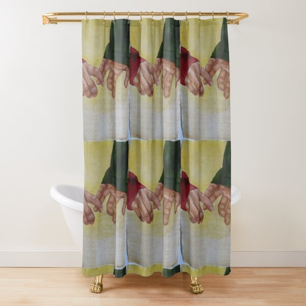 Connecting with you Shower Curtain